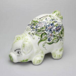 Kundenfoto Sparkasse - Sparschwein klein, Kopf am Boden R230012