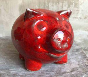 Sparkasse - Sparschwein stehend rund R1782017